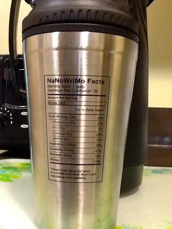 NaNoWri 2013 mug