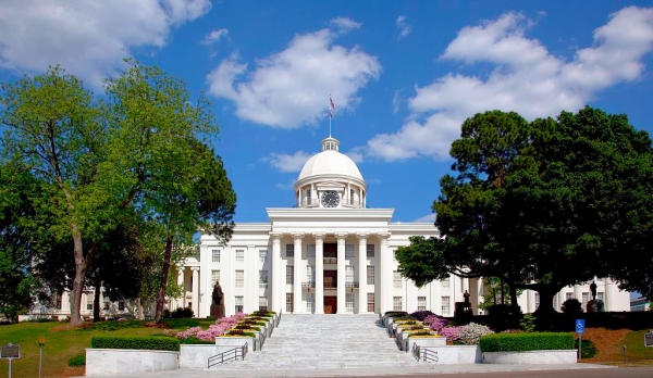 """Alabama Capitol Building"" by Carol M. Highsmith - This image is available from the United States Library of Congress's Prints and Photographs division under the digital ID highsm.07064.This tag does not indicate the copyright status of the attached work. A normal copyright tag is still required. See Commons:Licensing for more information.العربية 